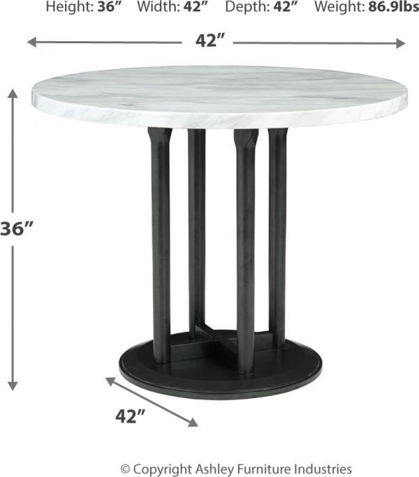 Centiar - Two-tone - 5 Pc. - DRM Counter Table & 4 UPH Barstools-5