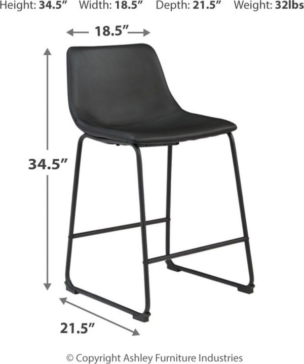 Centiar - Two-tone - 5 Pc. - DRM Counter Table & 4 UPH Barstools-4