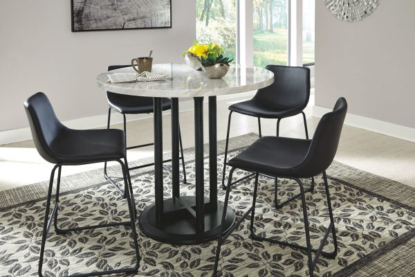 Centiar - Two-tone - 5 Pc. - DRM Counter Table & 4 UPH Barstools