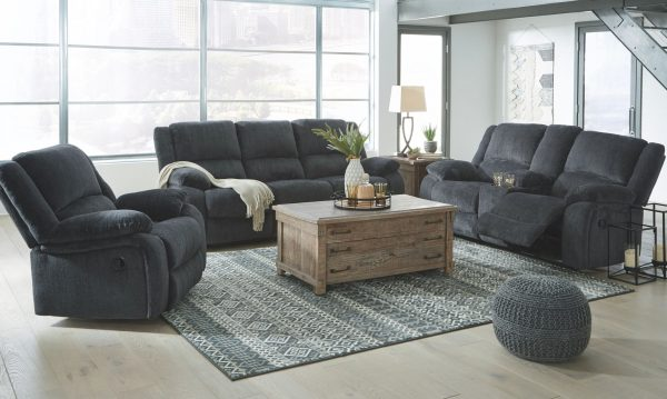Draycoll - Slate - REC Sofa & DBL REC Loveseat with Console 3