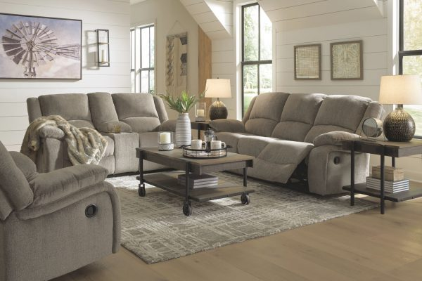 Draycoll - Pewter - REC Sofa & DBL REC Loveseat with Console 2