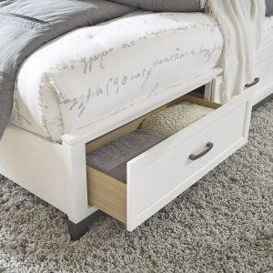 Brynburg - White - Queen Panel Bed with 2 Storage Drawers 1