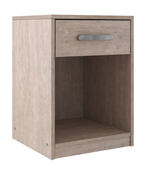 Flannia - Gray - One Drawer Night Stand