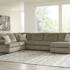 Hoylake - Chocolate - 3 Pc.- Sectional with Chaise