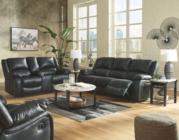 Calderwell - Black - 2 Pc. - Reclining Sofa & Double Reclining Loveseat with Console 4