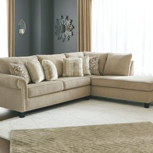 Dovemont - Putty - 2 Pc. - Left Arm Facing Sofa, Right Arm Facing Corner Chaise Sectional