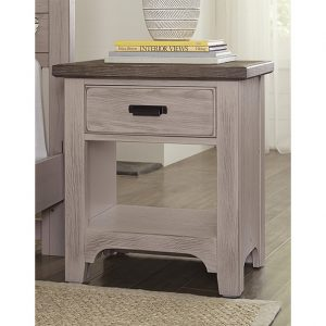 Bungalow - Dover Grey/Folkstone - Nightstands-1 Drawer 2