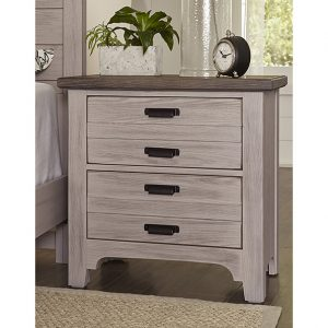 Bungalow - Dover Grey/Folkstone - Nightstands- 2 Drawer 2