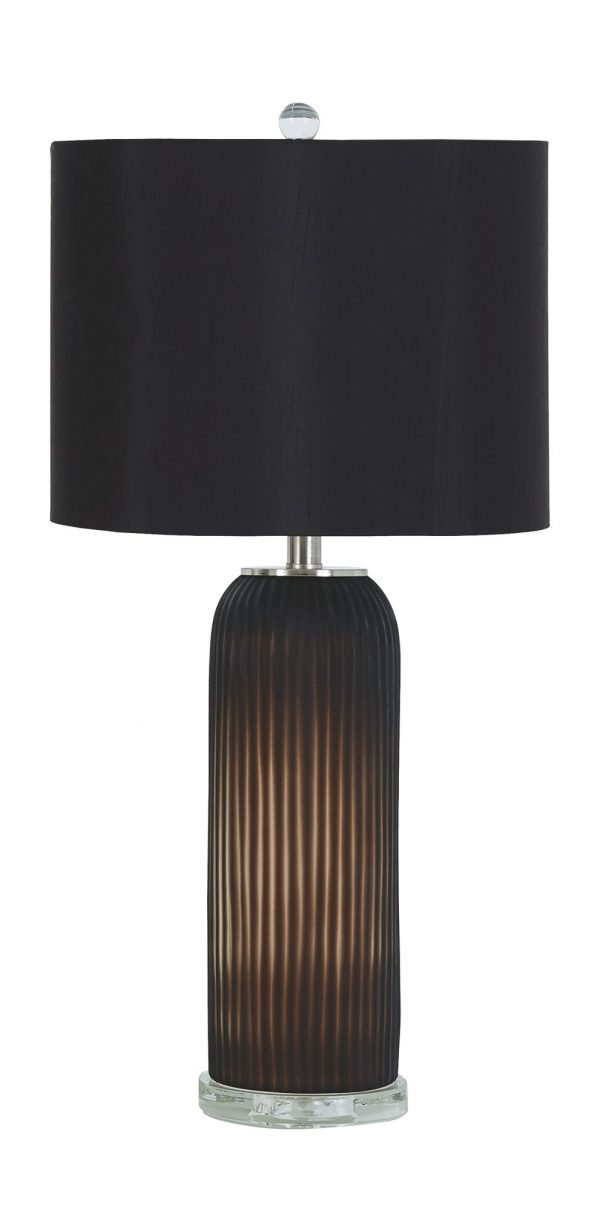Abaness - Black - Glass Table Lamp (2/CN) 2