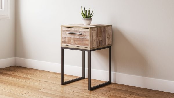 Neilsville - Whitewash - One Drawer Night Stand