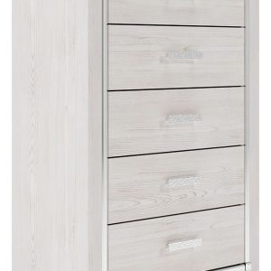 Altyra - White - Five Drawer Chest-1
