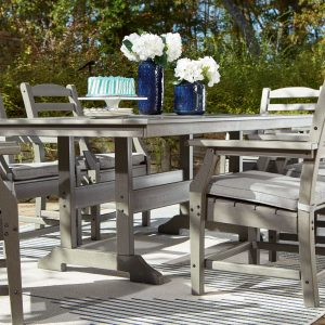 Visola - Gray - 7 Pc. - Dining Set with 6 Chairs