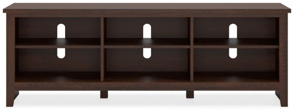 Camiburg - Warm Brown - Extra Large TV Stand - 1