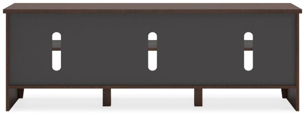 Camiburg - Warm Brown - Extra Large TV Stand - 4