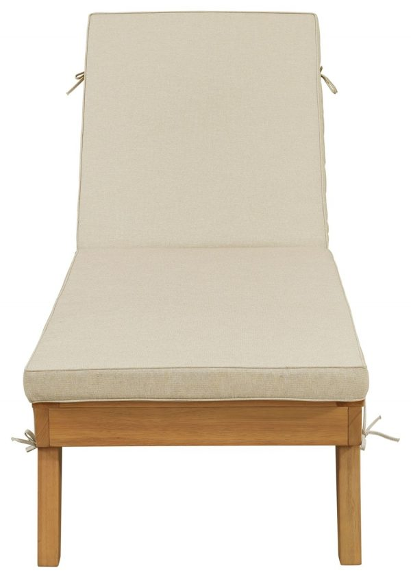 Byron Bay - Light Brown - Chaise Lounge with Cushion - 3