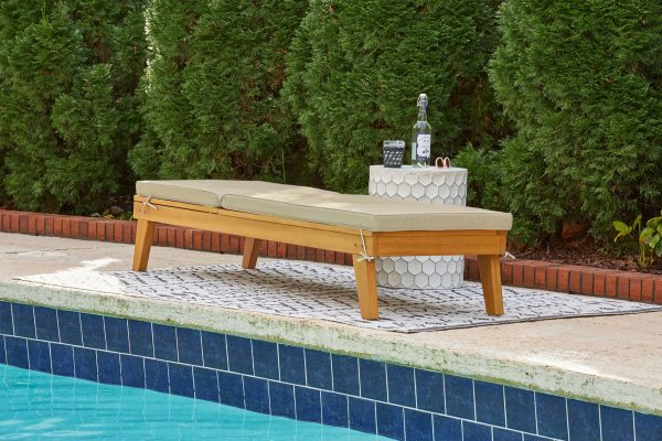 Byron Bay - Light Brown - Chaise Lounge with Cushion - 7