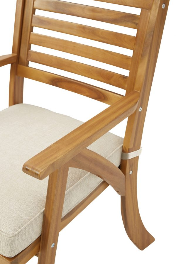 Vallerie - Brown - Chairs w/CUSH/Table Set - 7