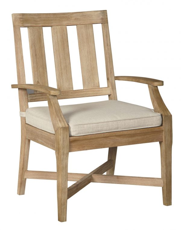 Clare View - Beige - Arm Chair With Cushion