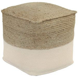 Sweed Valley – Natural/White – Pouf