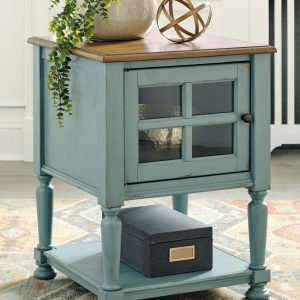 Mirimyn - Teal/Brown - Accent Cabinet - 1