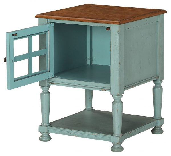 Mirimyn - Teal/Brown - Accent Cabinet - 2