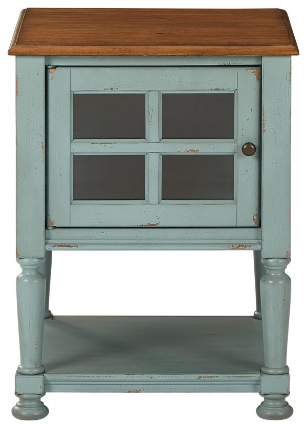 Mirimyn - Teal/Brown - Accent Cabinet - 3