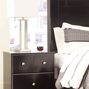 Mirlotown - Almost Black - Two Drawer Night Stand - 1