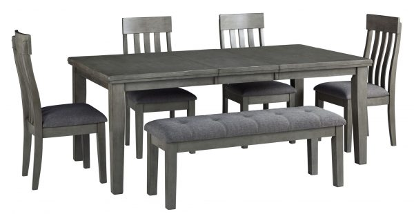 Hallanden – Gray – 6 Pc. – ECT DRM Butterfly EXT Table