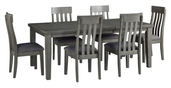 Hallanden – Gray – 8 Pc. – RECT DRM Butterfly EXT Table - 1