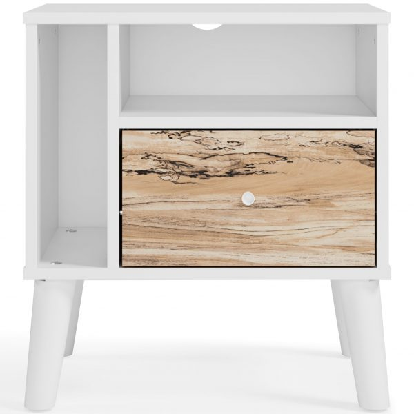Piperton - Two-tone - One Drawer Night Stand - 2
