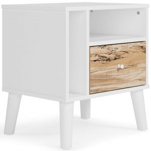 Piperton - Two-tone - One Drawer Night Stand