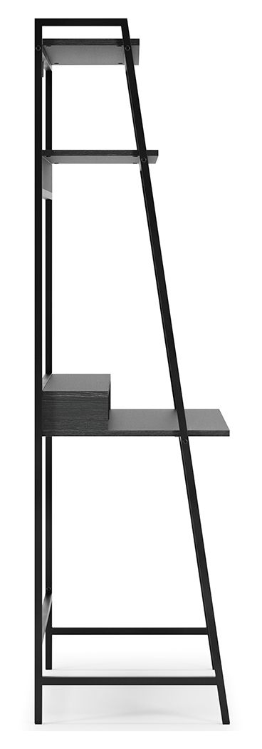 Yarlow - Black - Home Office Desk and Shelf - 4