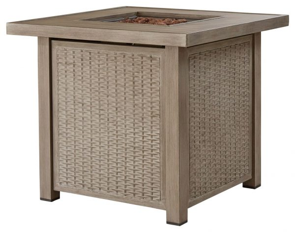 Lyle - Driftwood - Square Fire Pit Table - 3
