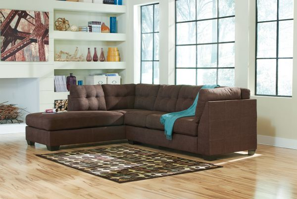 Maier - Walnut - Left Arm Facing Corner Chaise, Right Arm Facing Sofa Sectional