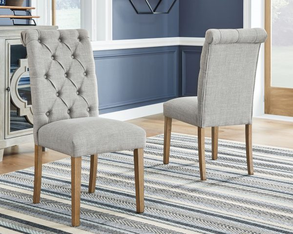 Harvina - Light Gray - Dining UPH Side Chair - 1