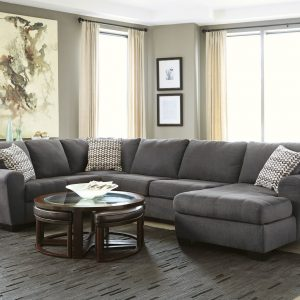 Ambee - Slate - Left Arm Facing Sofa, Armless Loveseat, Right Arm Facing Corner Chaise Sectional - 1
