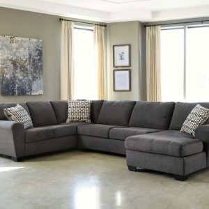 Ambee - Slate - Left Arm Facing Sofa, Armless Loveseat, Right Arm Facing Corner Chaise Sectional