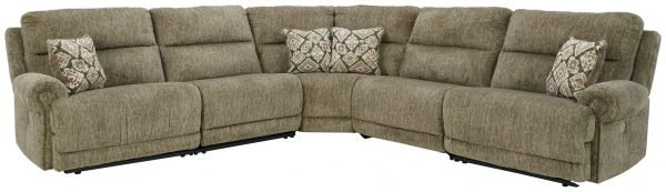 Lubec - Taupe - Left Arm Facing Zero Wall Power Recliner, Armless Chair, Wedge, Armless Chair, Right Arm Facing Zero Wall Power Recliner Sectional - 1