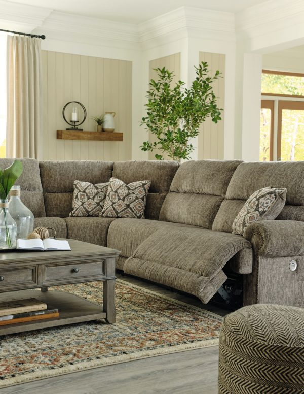 Lubec - Taupe - Left Arm Facing Zero Wall Power Recliner, Console with Storage, Armless Chair, Wedge, Armless Chair, Right Arm Facing Zero Wall Power Recliner Sectional - 3