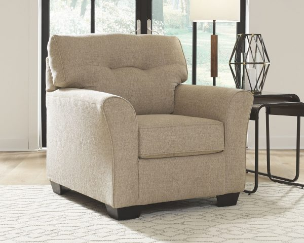 Ardmead - Putty - 2 Pc. - Chair with Ottoman - 1