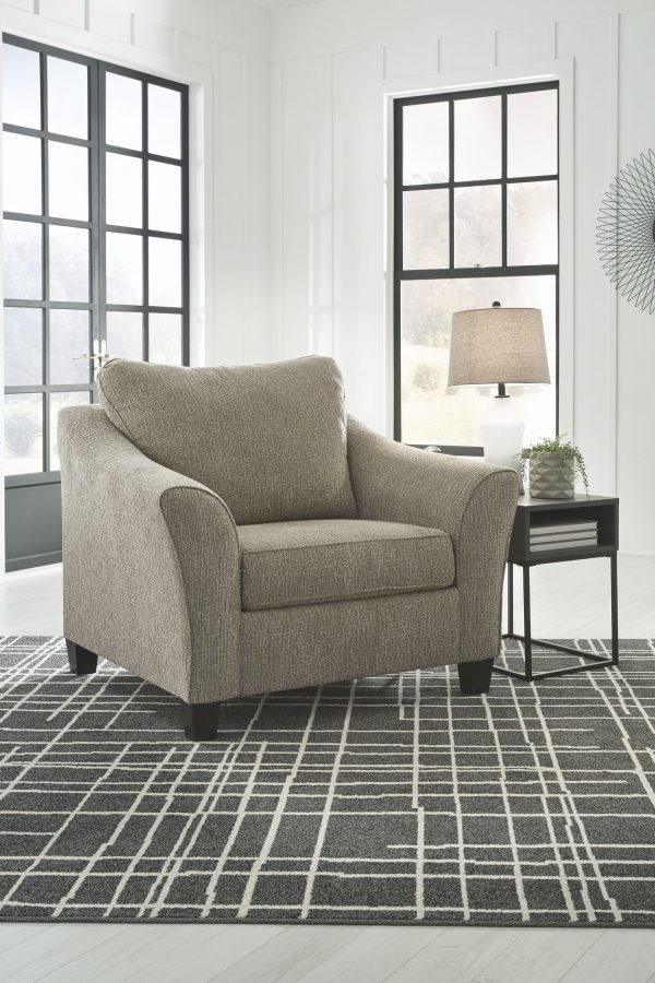 Barnesley - Platinum - 2 Pc. - Chair and a Half with Ottoman - 1