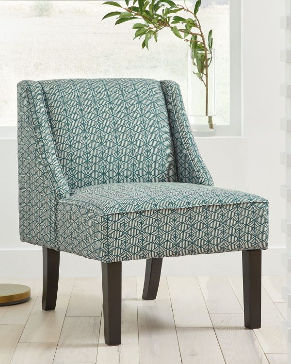 Janesley - Teal/Cream - Accent Chair - 1