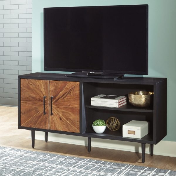 Shayland - Black/Brown - Accent Cabinet - 5