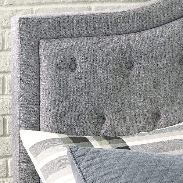 Jerary - Gray - King Upholstered Bed - 9