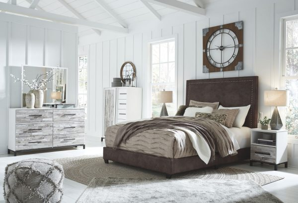 Dolante - Brown - Queen Upholstered Bed - 6