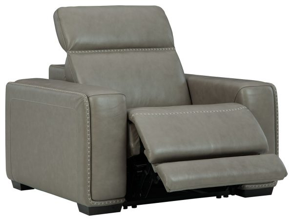 Correze - Gray - Recliner with Power - 2